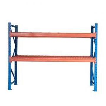 Rolling 4 Tiers Heavy Duty Industrial Slanted Steel Wire Shelf Truck Storage System