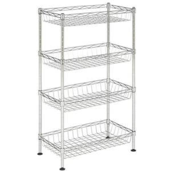 Wire Back Metal Supermarket Shelf